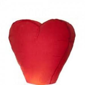 Красный небесный фонарик Сердце 1