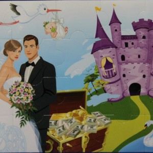 свадебный пазл
