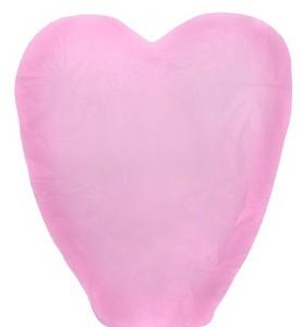 Розовый небесный фонарик Сердце 2