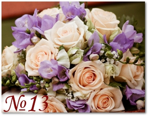 Букет с сиреневыми и розовыми цветами 13
