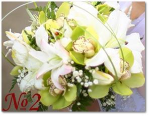 Букет из лилий и орхидей 2