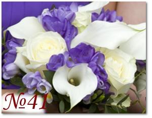 Феолетвый букет невесты 41