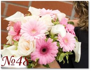 Букет невесты с герберами 48