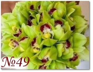 Букет из зелёных орхидей 49