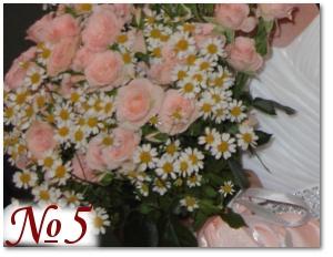 Букет невесты с розамии ромашками 5