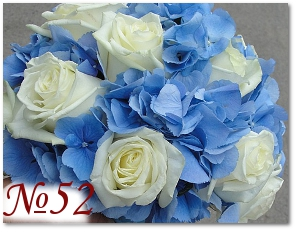 Букет невесты с голубыми цветами 52