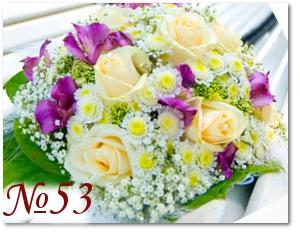 Букет с лиловыми цветами 53