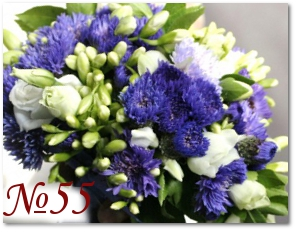 Синий букет невесты 55