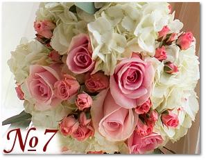 Букет с розовыми розами 7