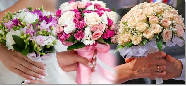 Букет невесты в форме цветочной шапки