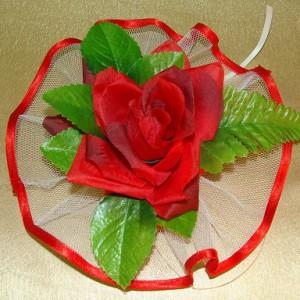 Красная роза ручки машины