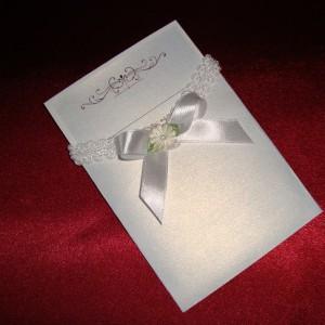 Приглашение винтажное с конвертом 30