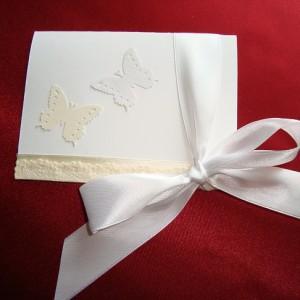 Приглашение с бабочками Кружевной винтаж 37