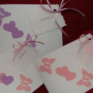 Приглашение с бабочками 44