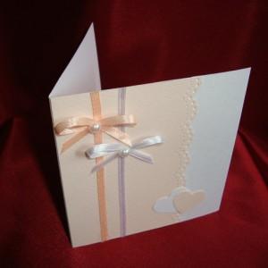 Свадебное приглашение в персиковом цвете 47