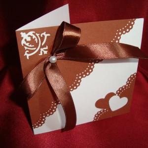 Свадебное приглашение Шоколад 49