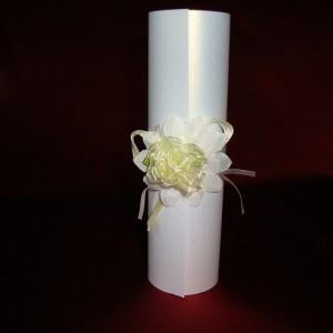 Приглашение с пышным цветком 64