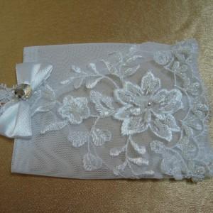 Перчатки свадебные короткие 2