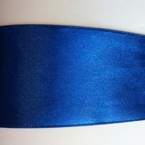 синяя атласная лента 25м