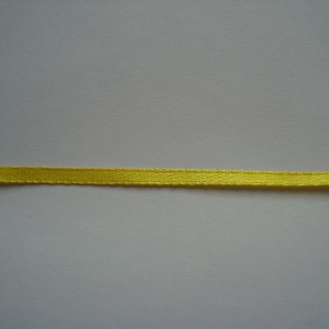 Атласная лента желтая 3мм