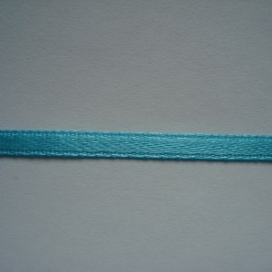 Бирюзовая атласная лента 3мм