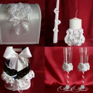 Белый букет комплект на свадьбу