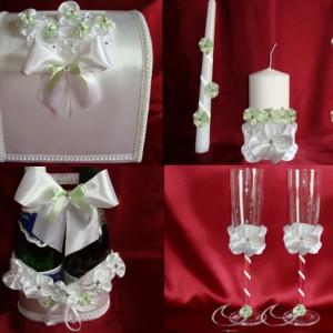 Мятный букет комплект на свадьбу