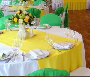 желтый и зелёный