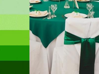 зелёный цвет на свадьбу