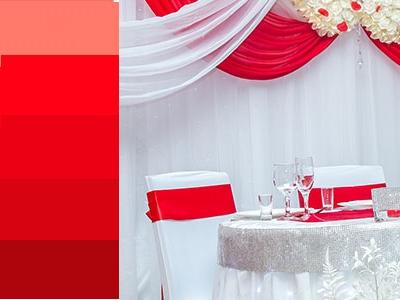 красный цвет на свадьбу