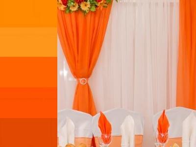 оранжевый цвет на свадьбу