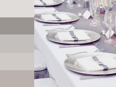 серебряный цвет на свадьбу