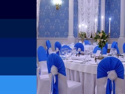 Синий цвет на свадьбу