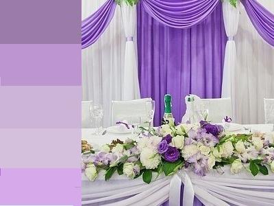 сиреневый цвет на свадьбу