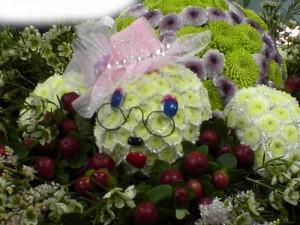 Черепашка из цветов