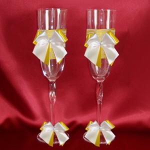 Желтые бокалы на свадьбу 151