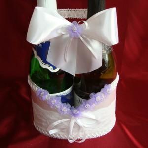 Украшение на шампанское фиалка 16