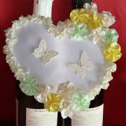 Сердце н шампанское жёлтый мятный 42-1