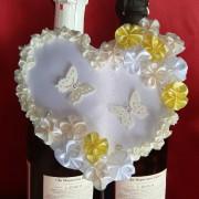 Сердце на шампанское жёлтый айвори 43-1