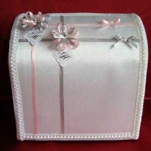 Сундучо с инициалами серый розовый 55