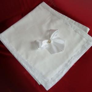 Рушник с бантом белый 20