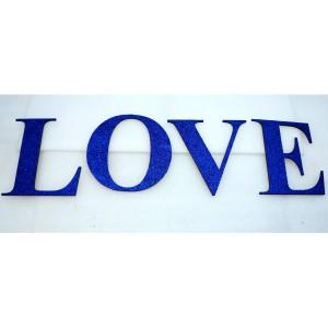 Слово LOVE из отдельных букв цвет синий