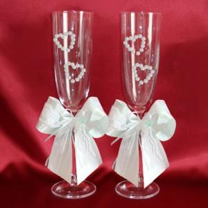 Свадебные бокалы мятный 44