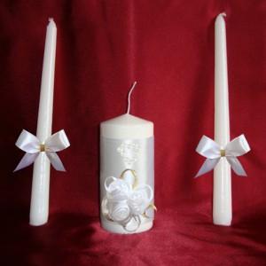 Свечи с розами белые 59