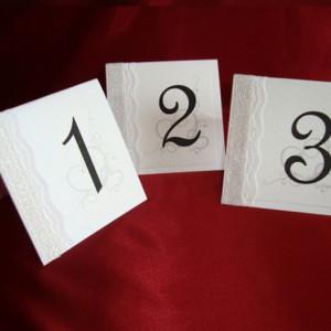 Номер на стол серебро1 1