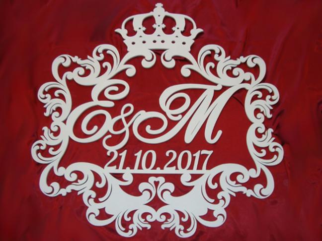 Герб с короной на свадьбу 15