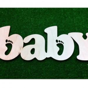 Объёмное слово baby 2