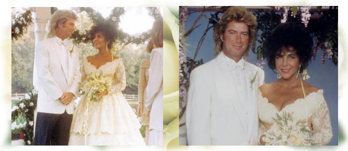 свадебное платье Лиз Тейлор с Ларри