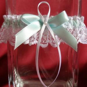Мятная подвязка невесты 27