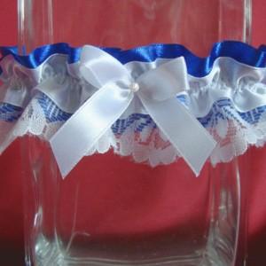 Синяя подвязка невесты 44